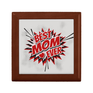 Best Mom Ever Small Square Gift Box