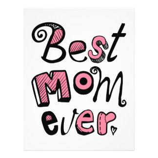 Best Mom Ever Text Design Custom Flyer