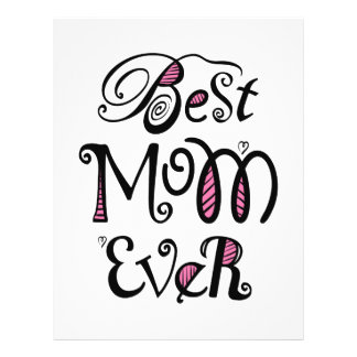 Best Mom Ever Typography 21.5 Cm X 28 Cm Flyer