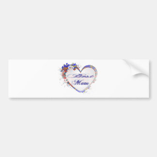 Best Mom Grunge Floral Heart Gifts Bumper Stickers