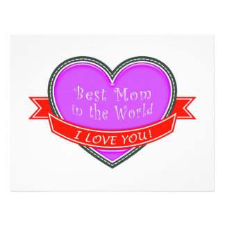 Best Mom in the World 21.5 Cm X 28 Cm Flyer
