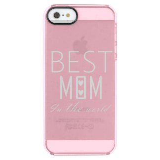 BEST MOM IN THE WORLD IPHONE CLEAR iPhone SE/5/5s CASE