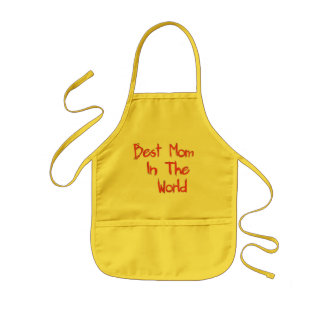 Best Mom In The World Kids Apron
