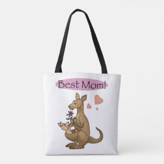 best mom (kangaroo) - mother's day tote bag