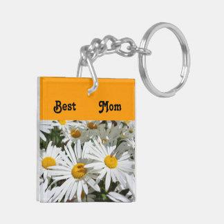 Best Mom keychains stocking stuffers Daisy Flowers