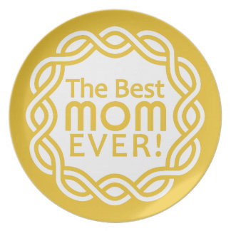 BEST MOM melamine plate
