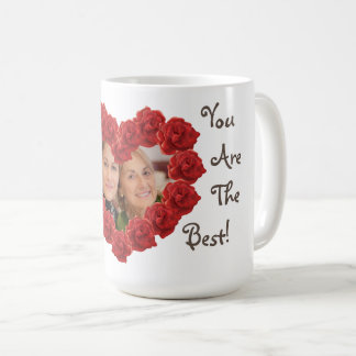Best mom photo roses mug