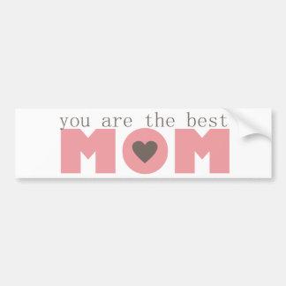 Best Mom (Pink) Bumper Sticker