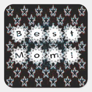 Best Mom Stars in Neon Sticker