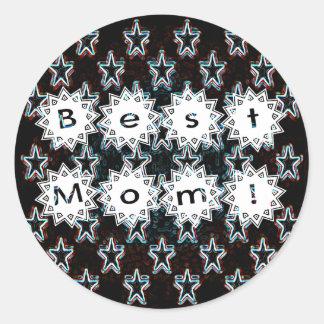 Best Mom Stars in Neon Stickers
