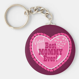 Best Mommy EVER! Basic Round Button Key Ring