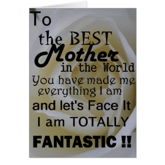 Best Mother In The World Card