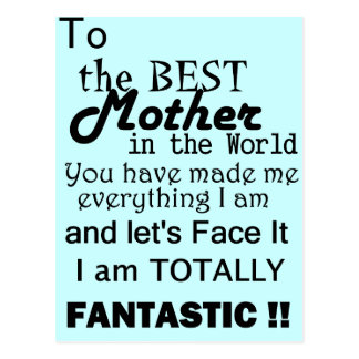 Best Mother In The World Postcard