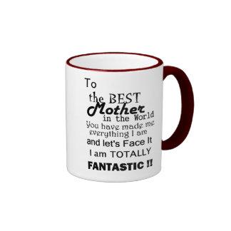 Best Mother In The World Ringer Mug