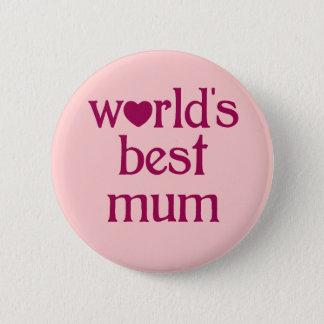 Best Mum 6 Cm Round Badge