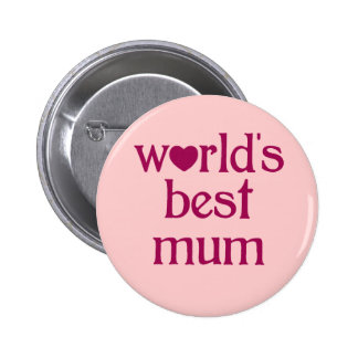 Best Mum 6 Cm Round Badge
