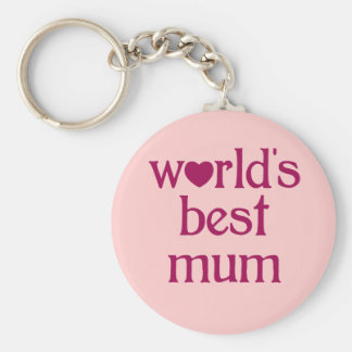 Best Mum Basic Round Button Key Ring