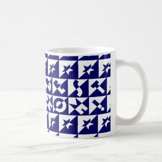Best Mum Blue with White Pattern and Stars Mug