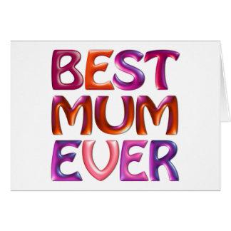 BEST MUM EVER - fun bright 3d like card for mum