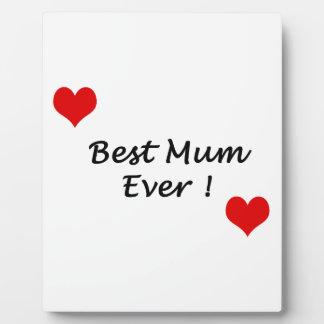 best mum ever plaque