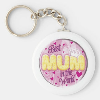 best mum in the world keyring basic round button key ring