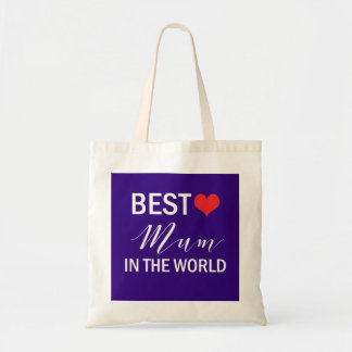 Best Mum in the World Mothers Day Tote Bag