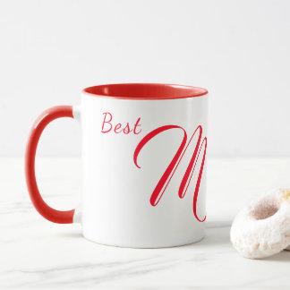 Best Mum|Mom Ever ~ Floral Heart ~ Red White Mug
