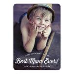 Best Mum   Retro Calligraphy Mother's Day Card 13 Cm X 18 Cm Invitation Card