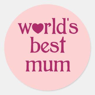 Best Mum Round Sticker