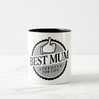 Best mum vintage Two-Tone coffee mug