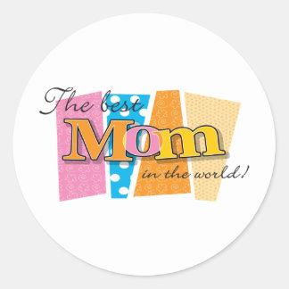 Best Mum World Round Sticker
