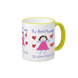 Best Mummy In The World Ringer Mug
