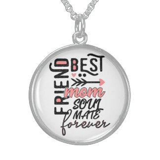 best mummy of Mother's Day gifts soulmate Sterling Silver Necklace