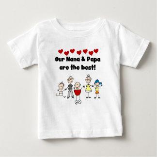 Best Nana and Papa Toddler T-shirt