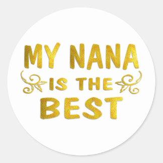 Best Nana Round Sticker
