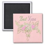 Best Nana Swirling Hearts Fridge Magnet