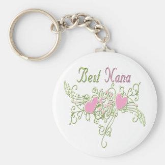 Best Nana Swirling Hearts Key Ring
