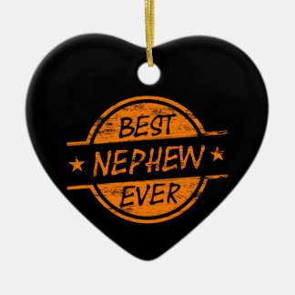 Best Nephew Ever Orange Christmas Ornament