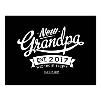 Best New Grandpa 2017 Dark Postcard