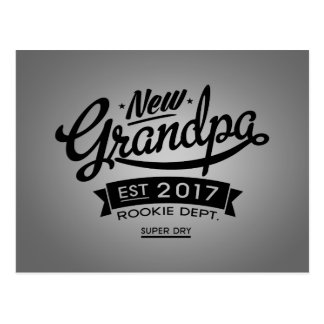 Best New Grandpa 2017 Postcard