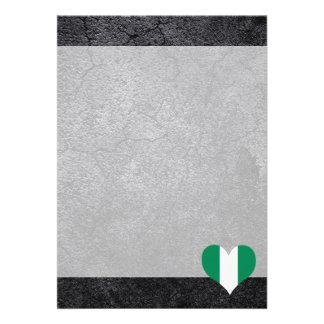 Best Nigerian Heart flag 13 Cm X 18 Cm Invitation Card