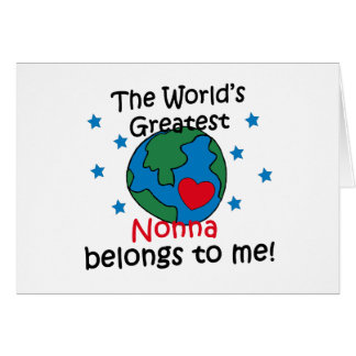Best Nonna Belongs to me Greeting Card