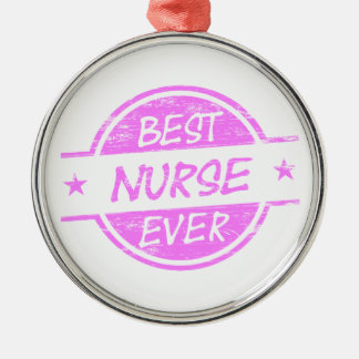 Best Nurse Ever Pink Christmas Ornament