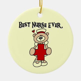 Best Nurse Ever Tshirts and Gifts Round Ceramic Decoration