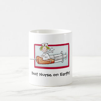 Best Nurse on Earth - Humorous Cartoon Nurse Coffee Mug