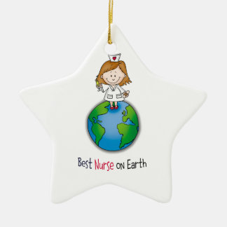 Best Nurse on Earth - Nurses Day - Nurses Week Christmas Ornament