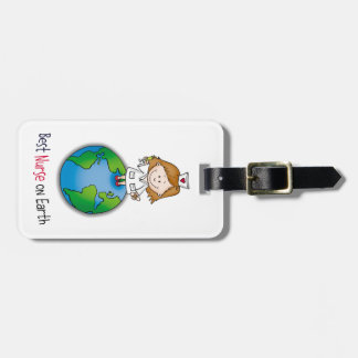 Best Nurse on Earth - Nurses Day - Nurses Week Luggage Tag