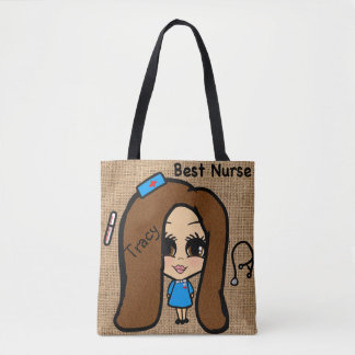 Best Nurse Tote - Personalized Caricature Named
