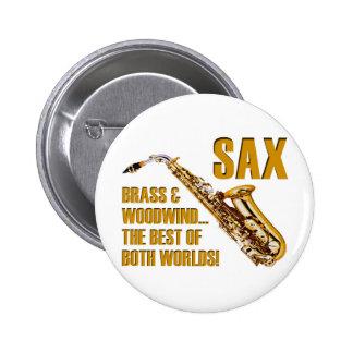 Best of Both Worlds 6 Cm Round Badge