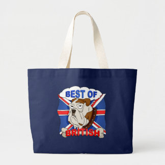 Best of British Cartoon Bulldog Bag